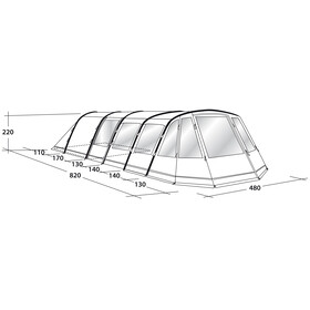 Outwell Wolf Lake 9É Tent grey/green